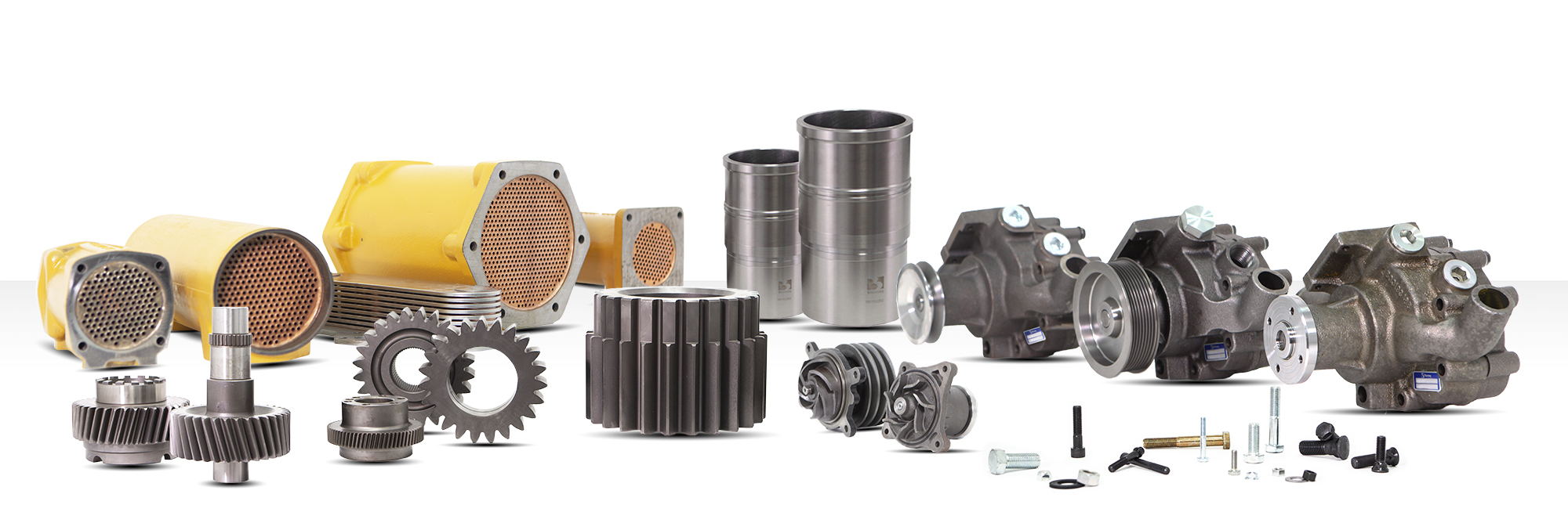Case parts for machinery of public works, mining, marine engines, tractors.