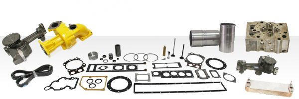 Engine spare parts and Komatsu components